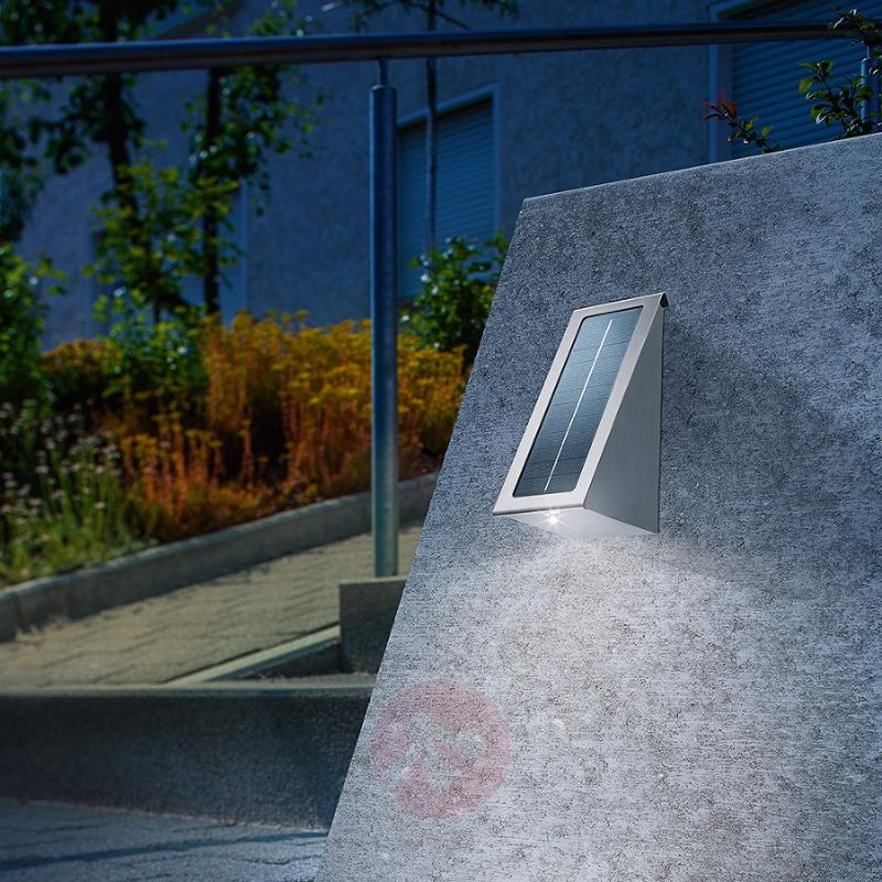 Solar wall spotlight stainless steel with LED - stainless-steel-outdoor-wall-lights