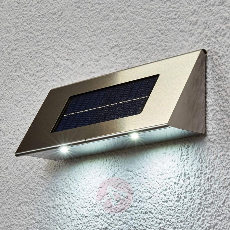 Profi I-K - solar wall light stainless steel - stainless-steel-outdoor-wall-lights