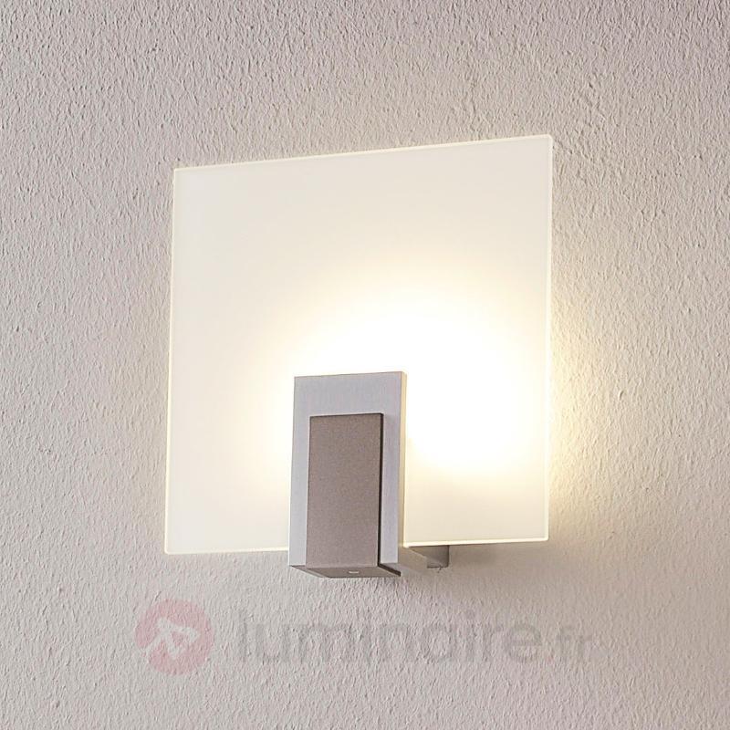 applique LED en verre Sara à interrupteur - Appliques LED