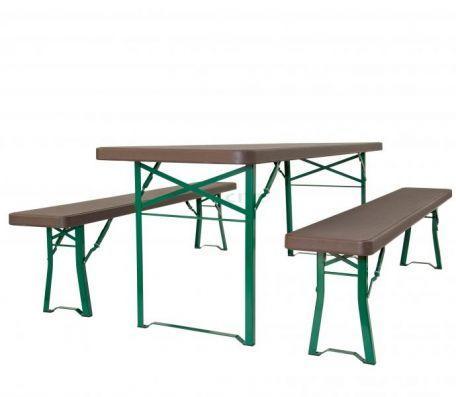 Ensemble Table Et Bancs Munich - Tables De Collectivités