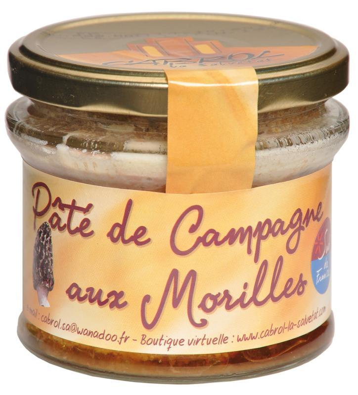 Pâté de Campagne aux Morilles (Bocal en verre) - Epicerie salée
