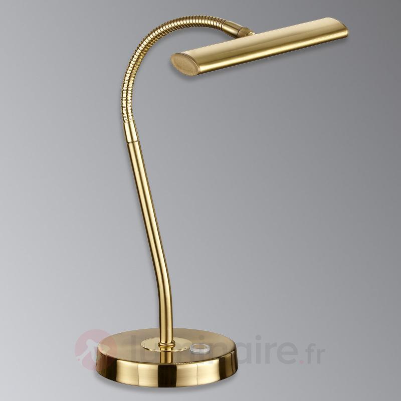 Lampe à poser LED Curtis de couleur laiton - Lampes de bureau LED