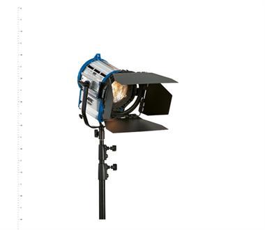 Halogen spotlights - ARRI Junior 300 PLUS black, bare ends