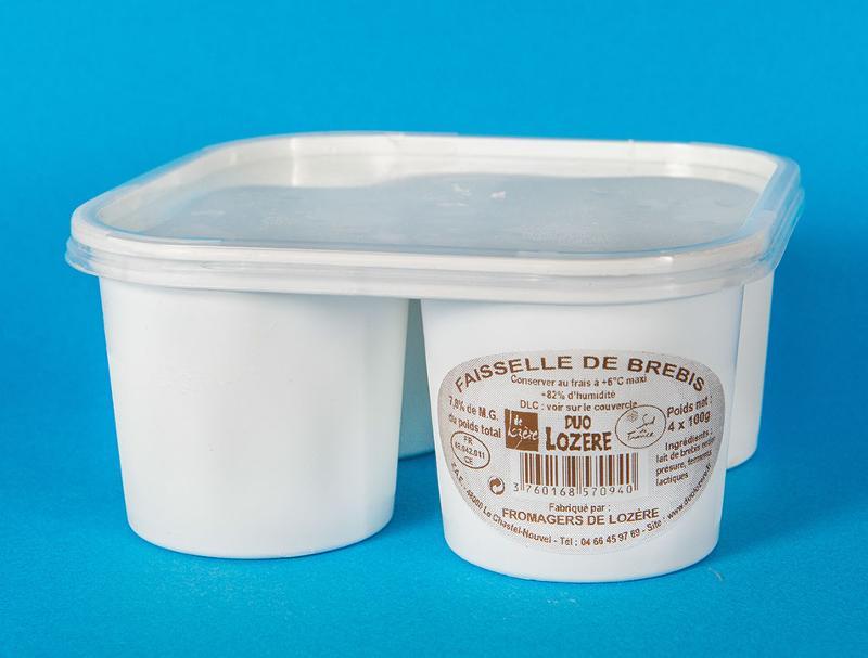 Faisselles brebis 4*100G - Produits laitiers