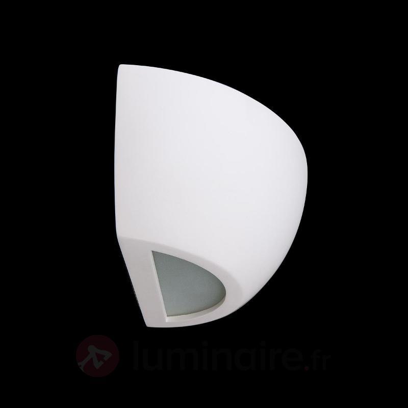 Applique en plâtre blanc Felia - Appliques en plâtre