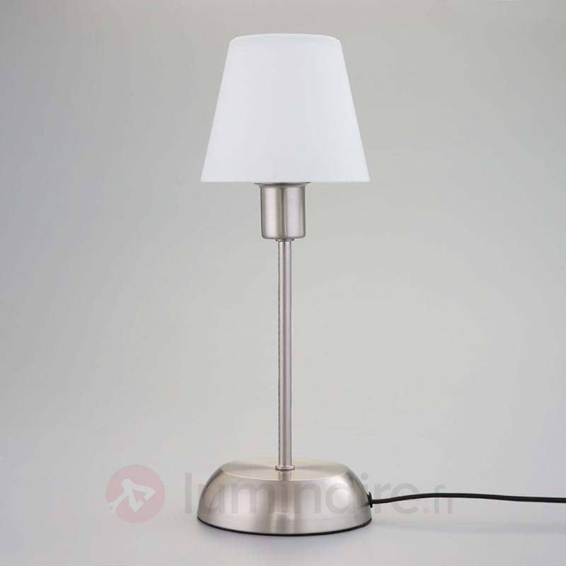 Gregor - lampe à poser avec abat-jour en verre - Lampes de chevet