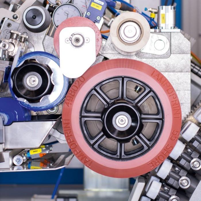 ROTOPRINT Tampondruckmaschine - Rotations-Tampondruckmaschine für Verschlusskappen-Bedruckung