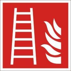 Brandschutzkennzeichnung, Feuerleiter, Lumipro