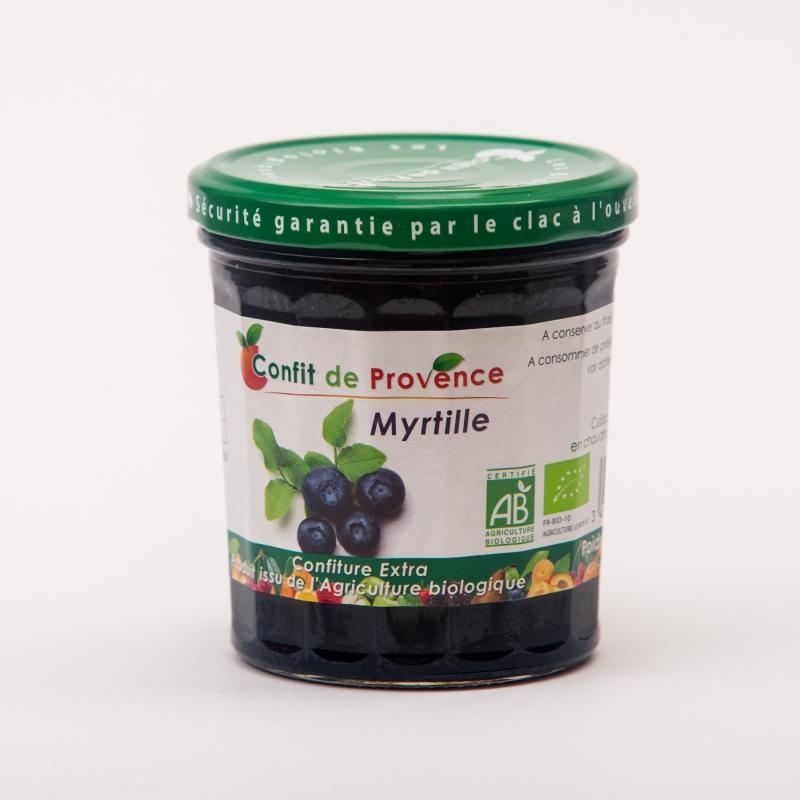 confiture de Myrtilles - Confitures biologiques de myrtilles