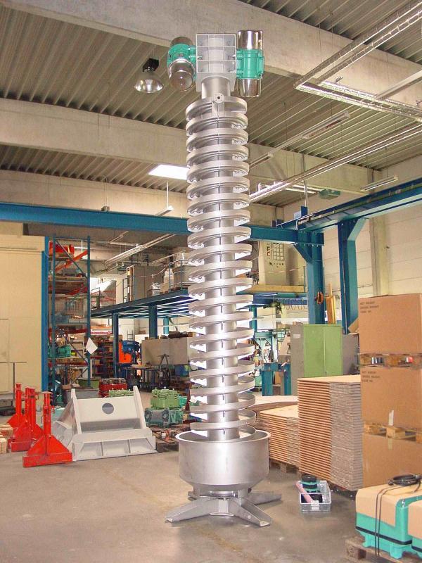 Spiral conveyor - Vertical conveying - Conveying technology