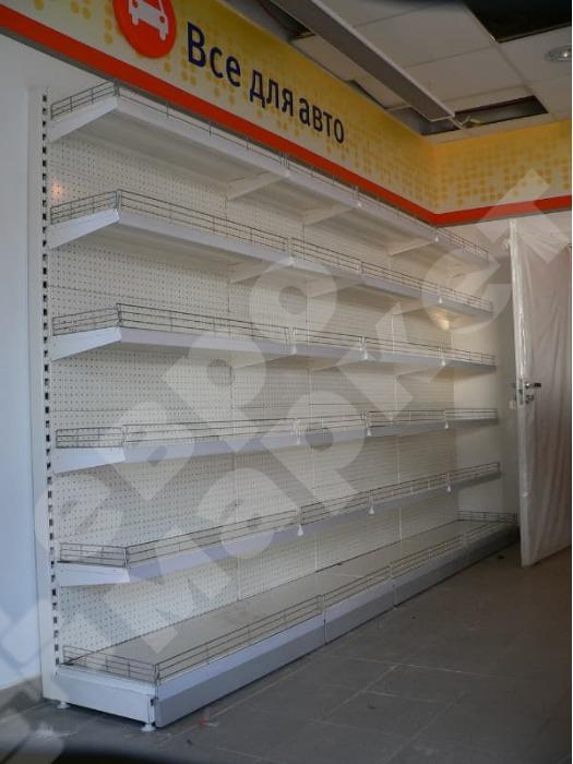 SHOP SHELVING - Shelf stand with perforation holes