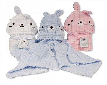 Baby Hooded Wrap - Rabbit  -