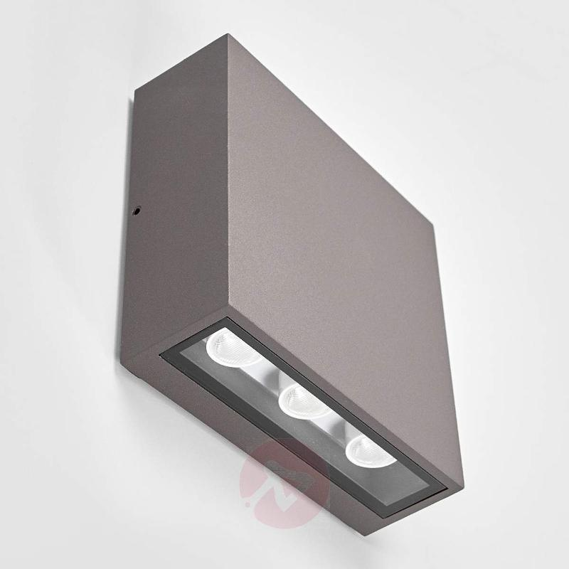 Square LED outdoor wall light Trixy, graphite grey - Outdoor Wall Lights