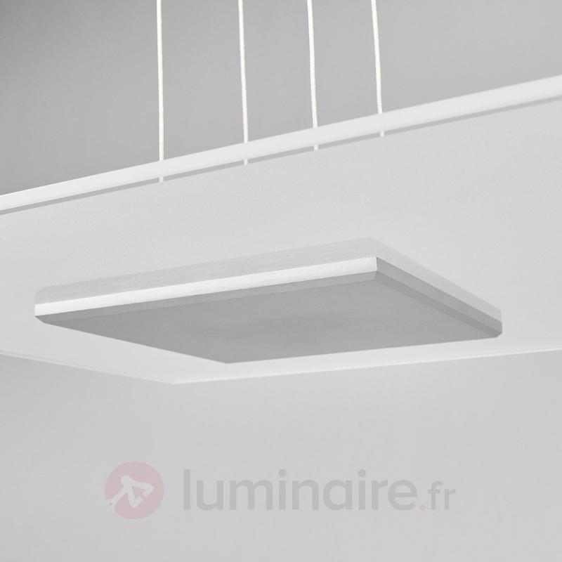 Suspension carrée LED Lola avec abat-jour en verre - Suspensions LED