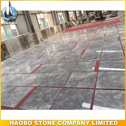China Silver Sable Marble Floor Tile Polished For Interior