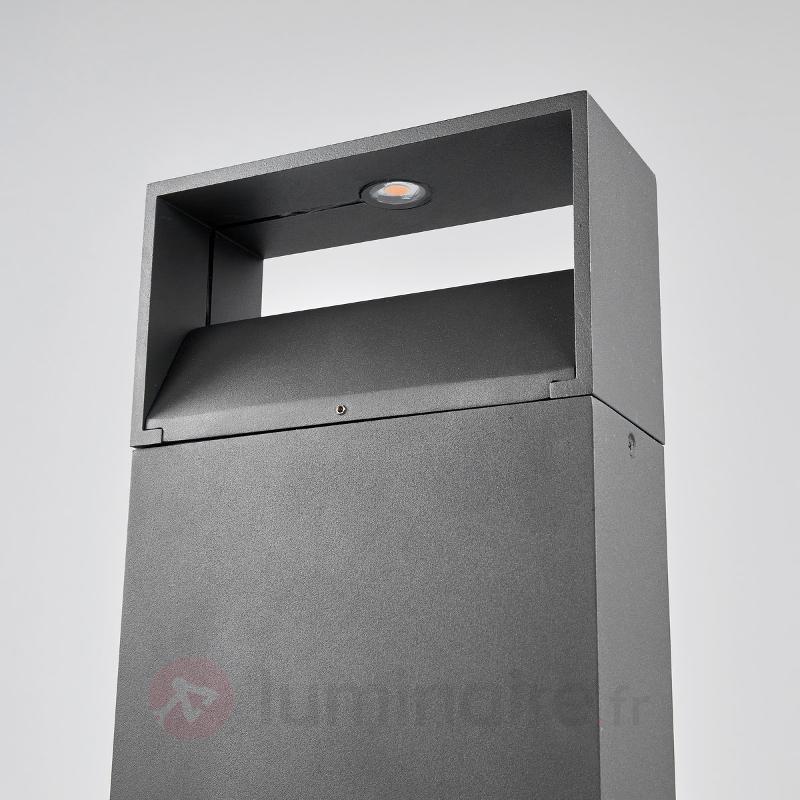 Borne lumineuse LED gris foncé Kjella - Bornes lumineuses LED