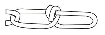 Knotted Chain - USA Standard Double Loop Chain