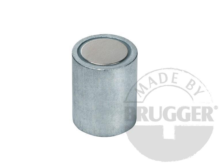 Bar magnet NdFeB, steel body, zinc coated - null