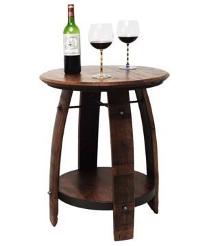 Wine Barrel Drinks Table - null