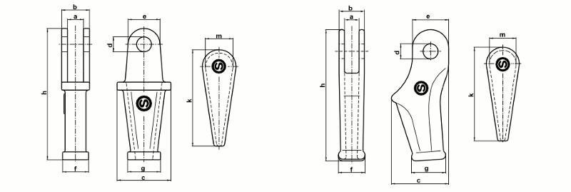 Wegde sockets - Wedge sockets for open line construction, telecommunications