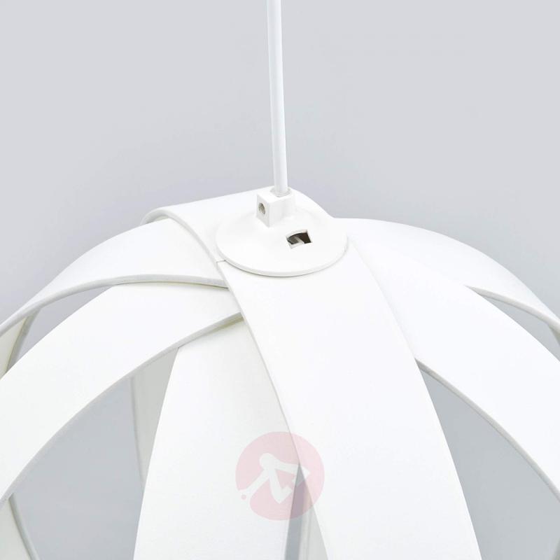 Beautiful fabric pendant lamp Valento in white - indoor-lighting