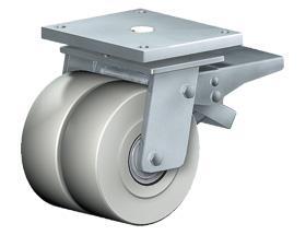 SWIVEL CASTOR WITH TOTAL LOCK - Extra Heavy Duty Castors