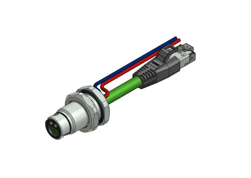 B12 Hybrid Einbauflansche - CONEC SuperCon® Hybrid Einbauflansche Baugröße B12