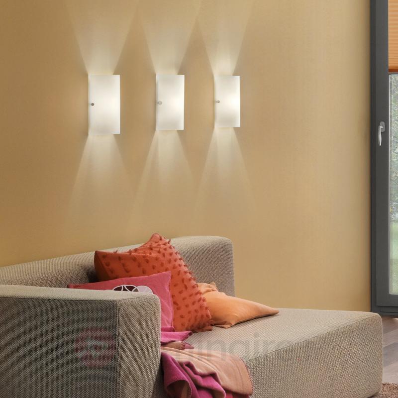 Magnifique applique murale TROY blanc - Appliques en verre