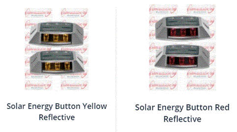 Solar Energy road Buttons  Reflective - rad safety material