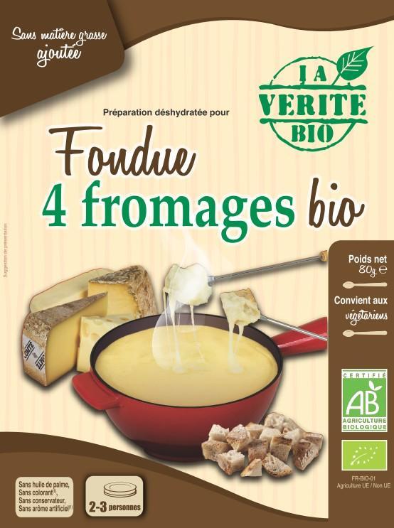 Fondue aux 4 fromages biologique 3/4 personnes - Epicerie salée