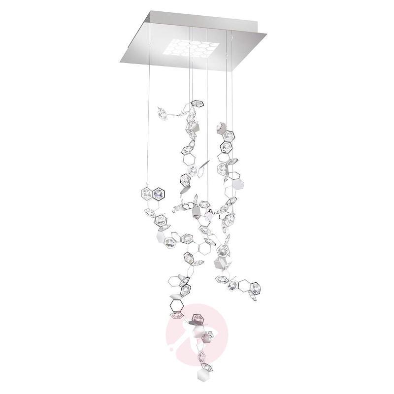 Crystalon crystal LED pendant light, 50 x 86 cm - Pendant Lighting