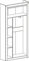 "Entrance Wardrobe 2Dv ""Sorento"" Boniface Oak - Hallway furniture"