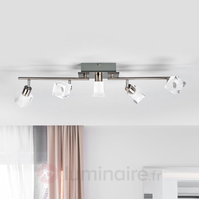 Plafonnier LED à cinq lampes Emina - Plafonniers LED