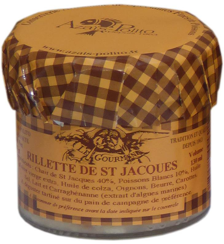 Rillettes de St Jacques 130ml - Epicerie salée