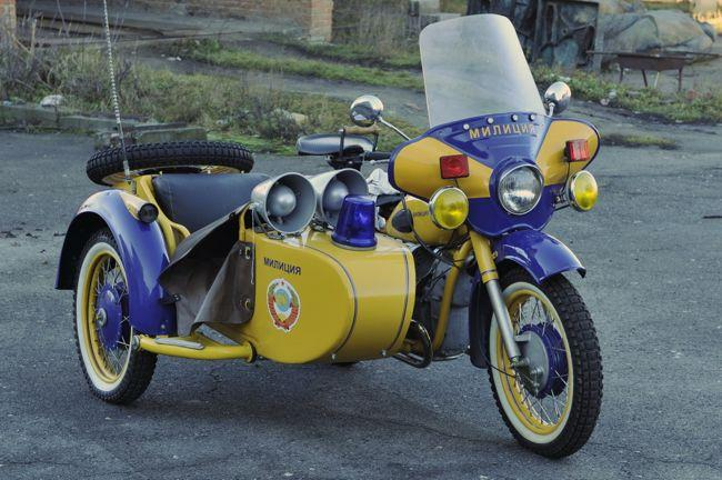1970 Dnepr K-650 with sidecar - POLICE USSR BIKE FOR SALE