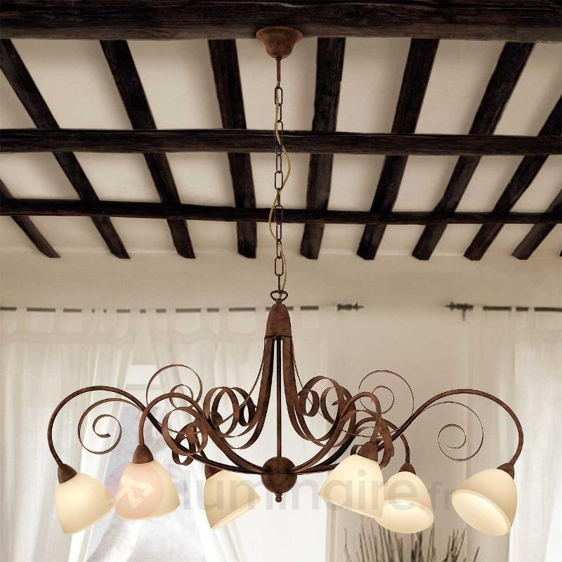Suspension Francesco à 6 lampes - Cuisine et salle à manger