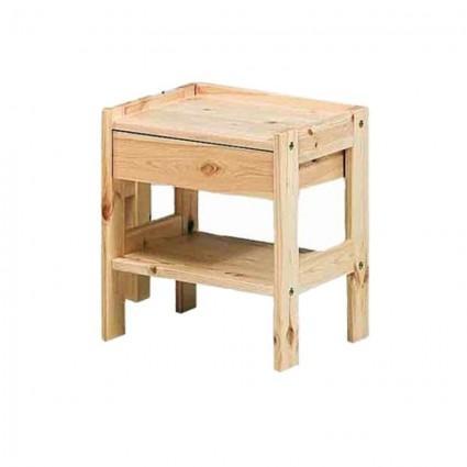 Sommier, mobilier, literie d'appoint - table de chevet IBIS en bois massif
