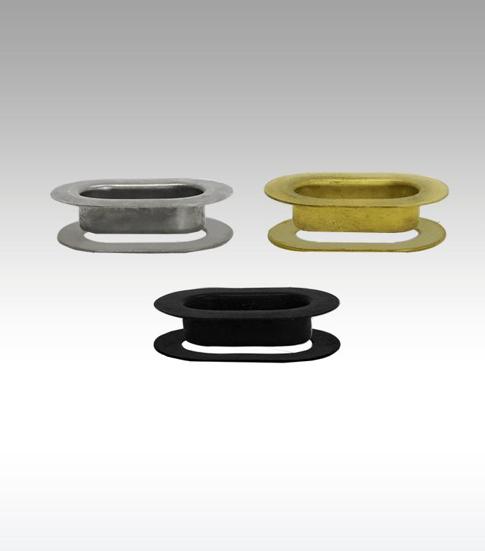 """Stimpson A591 Oblong Grommets And Washers [5/16"""" X 3/4""""] (144 Pcs Of Each) - Oblong Grommets and Washers"""