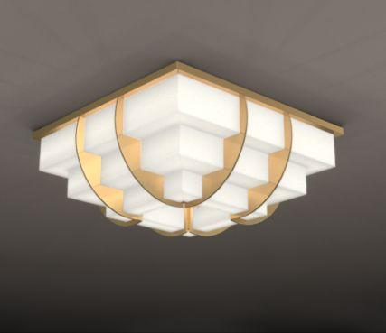 Glass art deco ceiling light - Model 364