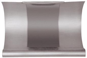 Rinnen-Dilatation - mit Blende - halbrund - Aluminium - Dilatationen