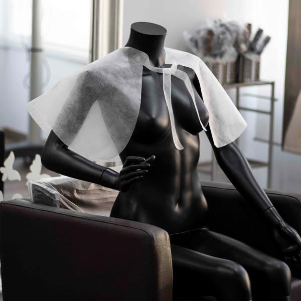 Capas De Maquillaje Desechables Tnt| Peinador Corto | Capa Barbería - null