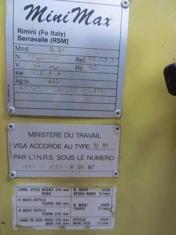 COMBINE 5 OPÉRATIONS minimax - Machine combiné Bois