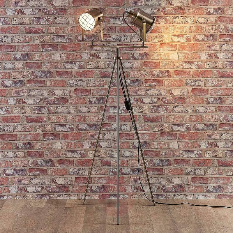 2-bulb floor lamp Ebbi made from metal - indoor-lighting