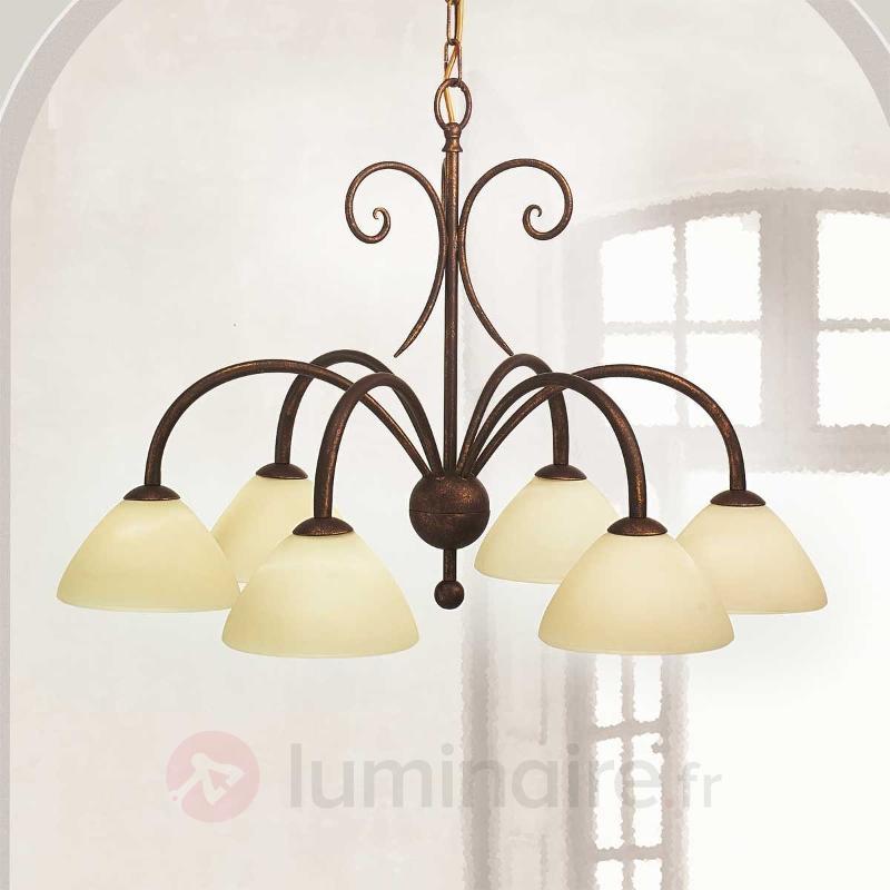 Suspension Federico à 6 lampes - Suspensions rustiques