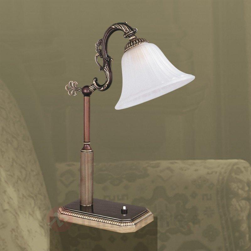 Charmante lampe à poser Alcantara - Lampes à poser classiques, antiques