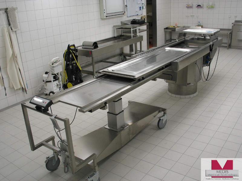 Autopsy Table with transfer work area - MA-2000