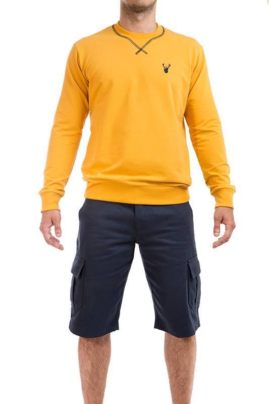 Sweater Orgânica Amarela - 5%Algodão orgânico 5%AE , Sweater Azul, Certificada pelo sistema Oeko Tex ®