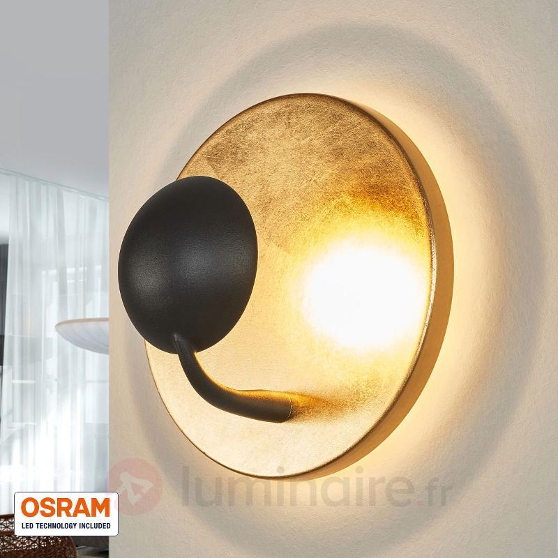 Applique murale LED extravagante Aurora noir/doré - Appliques LED