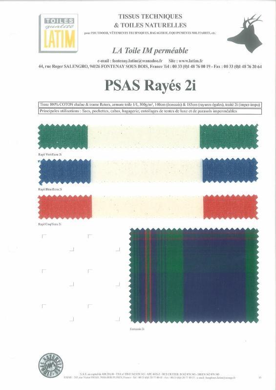 PSAS Rayés 2i - Toiles naturelles