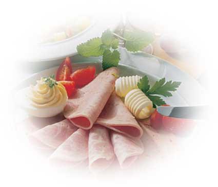 Turkey Mortadella with turkey haunch - Turkey Mortadella with turkey haunch - the classic cold cut sausage
